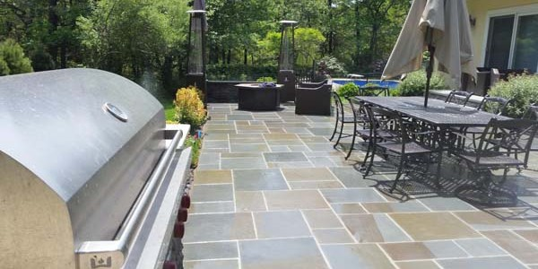 backyard slate patio