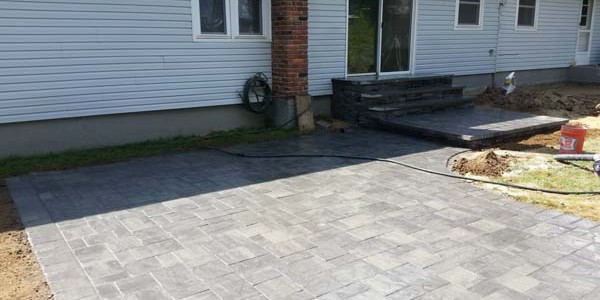brick and paver walkway