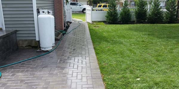 brick walkway installation