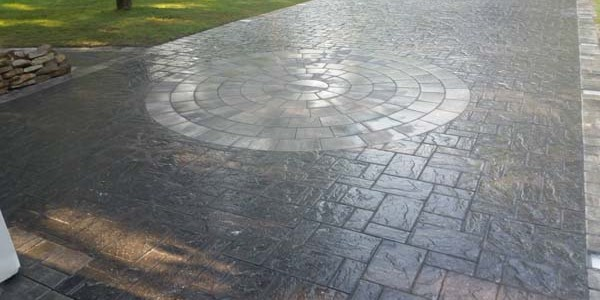 circular brick design and walkway