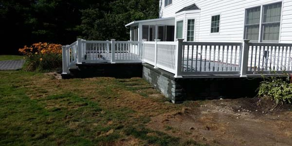 new brick and stone deck