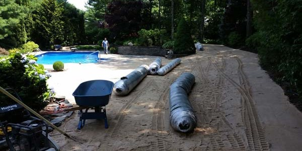 pool patio install