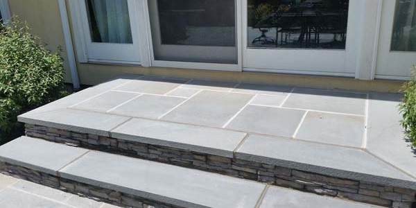 slate and stone paver steps