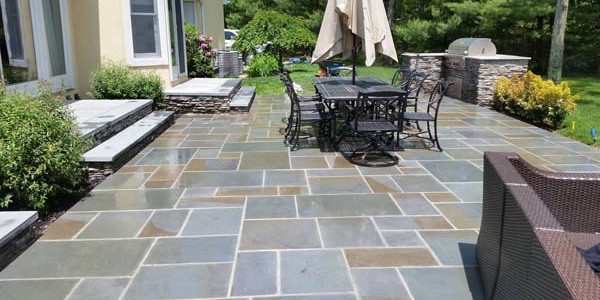 slate patio installation2