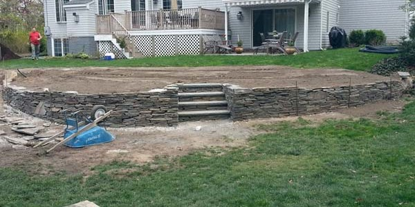 slate retaining wall and steps2